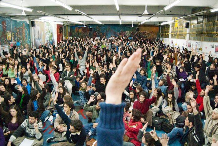 Democracia estudiantil: tomas, asambleas y ruptura