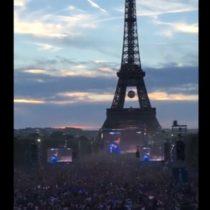 [VIDEO] La eufórica celebración desde la Torre Eiffel por el primer gol de Francia a Alemania en la Eurocopa