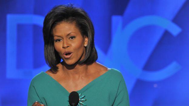 Michelle Obama abordó los mismos temas en su discurso de agosto de 2008, en la Convención Nacional Demócrata que nominó a su esposo.