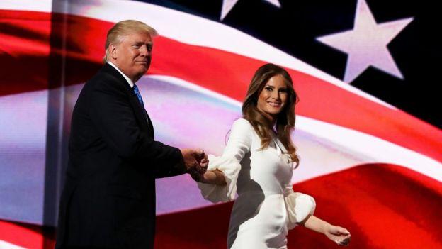 Donald Trump rompió con la tradición al hacer una aparición en el escenario antes de ser nominado oficialemente.
