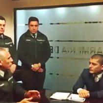 [Video] Gendarmes le advierten a asesor de Javiera Blanco de las irregularidades al interior de la institución