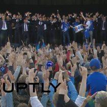 [VIDEO] El emocionante canto vikingo con el que Islandia recibió a su selección tras la salida de la EURO2016