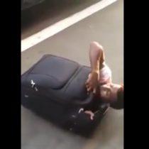 [VIDEO] Descubren a inmigrante que intentaba viajar de Italia a Suiza en una maleta