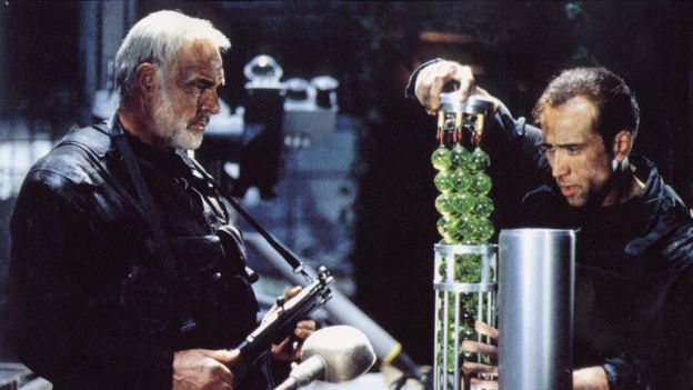 La fuente de la inteligencia británica al parecer estuvo influenciado por la película 'La Roca'.
