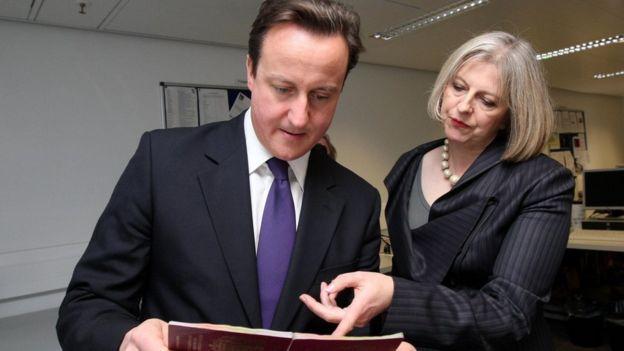 May es una de las figuras de confianza del primer ministro británico, David Cameron.