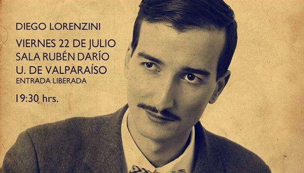Concierto de Diego Lorenzini en Centro de Extensión de la Universidad de Valparaíso, 22 de julio. Entrada liberada