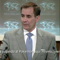[VIDEO] Periodista interrumpe un discurso sobre ISIS en la Casa Blanca por jugar Pokemon Go