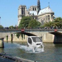 Un taxi volador planea transitar sobre el Sena sin piloto