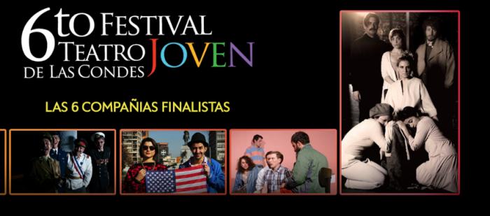 Sexto Festival de Teatro Joven de Las Condes en Teatro Municipal de Las Condes, del 2 y 7 de Agosto