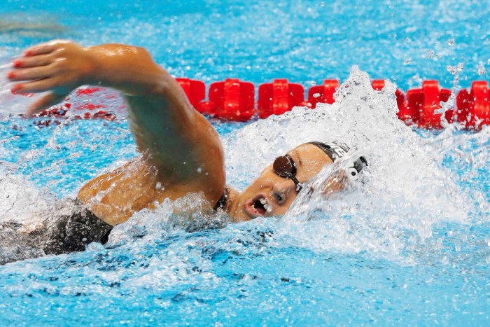 Kristel Köbrich termina en el cuarto lugar de su serie de 400 mts libres