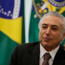 Michel Temer confirma el fin del Brasil