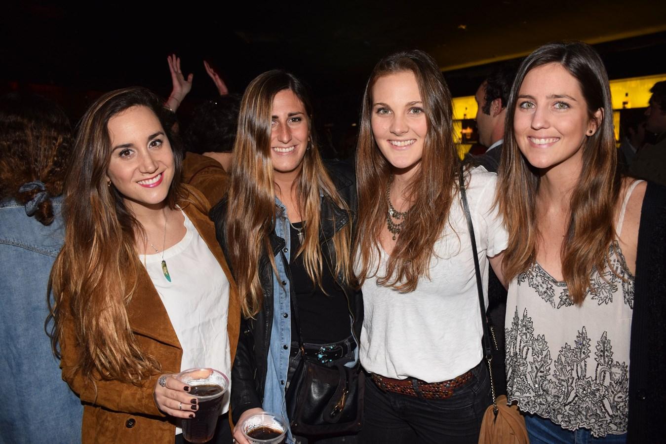 Michelle Thomas, Camila Spiniak, Magdalena Alcaino y Alexia Lindeen.