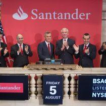 Banco Santander Chile celebró sus 20 años transando su acción en Estados Unidos con la apertura de Wall Street