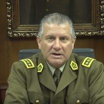 General director de Carabineros al borde de la deliberación: