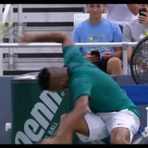 [VIDEO] La frustración del tenista Nick Kyrgios que lo llevó a romper tres raquetas en 10 segundos