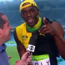 [VIDEO] Usain Bolt celebró su primer oro en Río cantando
