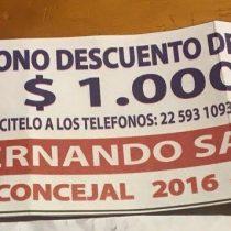 Candidato a concejal del PPD ofrece bono de $1.000 para pagar el gas
