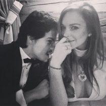 [VIDEO] Las reacciones de Lindsay Lohan tras filtrarse video que revela maltratos de su pareja