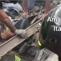 [VIDEO] Terremoto en Italia: el esperanzador momento en el que rescatan a una niña soterrada bajo los escombros