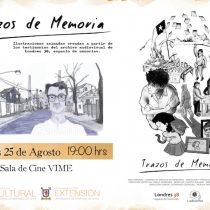 """Exhibición cortometrajes """"Trazos de memoria"""" en Sala de Cine ViME de la USACH, 25 de agosto. Entrada liberada"""