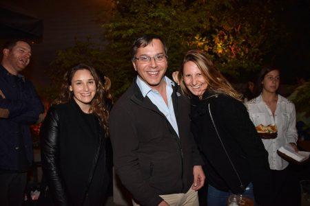 Andrea Talbot, Alfonso Donoso y Angeles Ramdohr.