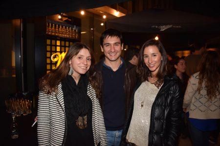 María José Irarrázaval, Jorge Talbot y Camila Silva.