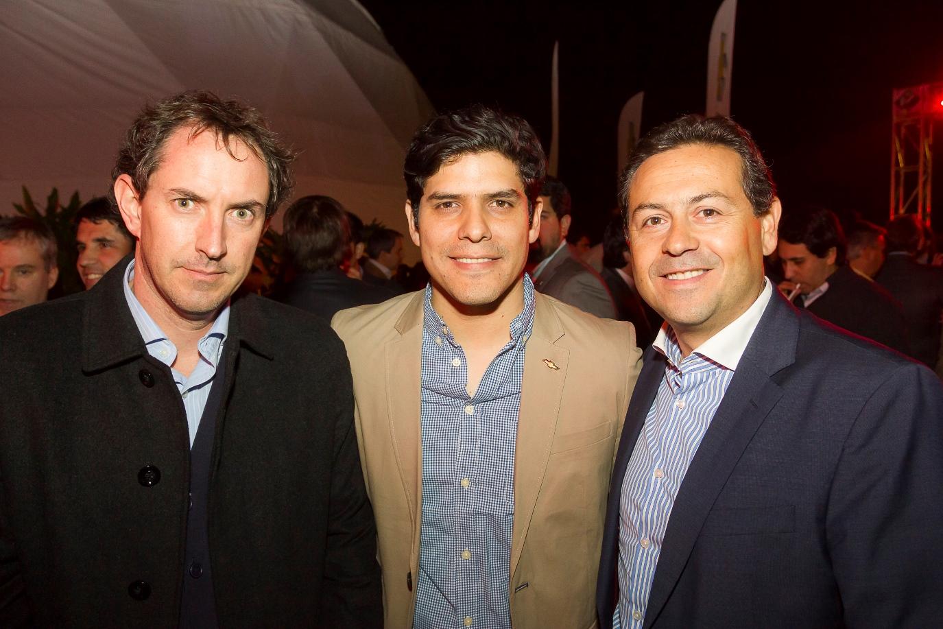 Jairo Ochoa, Rodrigo Gómez y Martín Cook