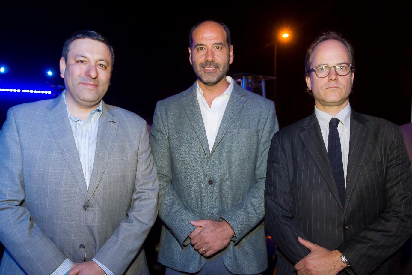 Jorge Rodríguez, Alfredo Chaparro y Tomas Muller