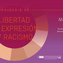 """Seminario """"Libertad de expresión y racismo"""" en Facultad de Salud y Odontología UDP, 7 de septiembre"""