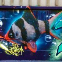 El festival del graffiti y música hip hop que se tomó el puerto de San Antonio