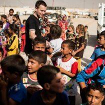 El viaje de Ewan McGregor a los campos de desplazados en el norte de Irak