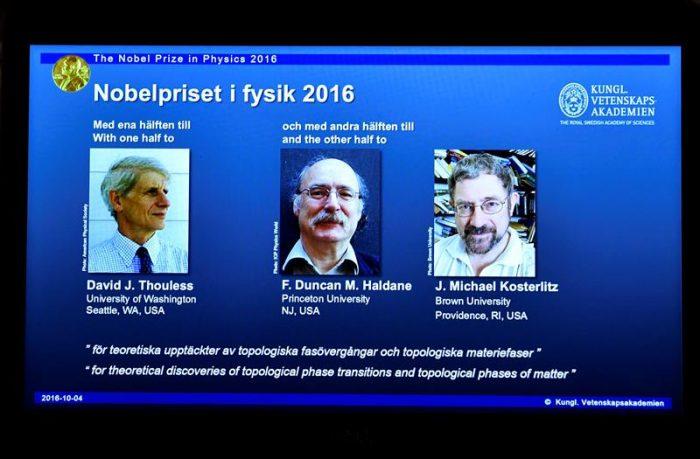 El Nobel de Física premia a tres británicos investigadores de la materia «exótica» en el mundo cuántico