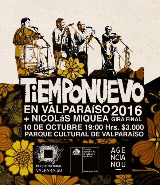 AFICHE TIEMPONUEVO - PARQUE CULTURAL VALPARAISIO - 10 OCTUBRE 2016 (3)