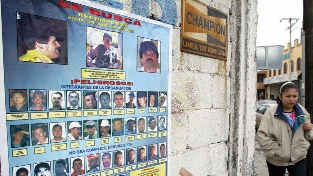 """Las autoridades ofrecieron una recompensa de US$5 millones para quien entregara información para arrestar a Joaquín """"El Chapo"""" Guzmán en 2005."""