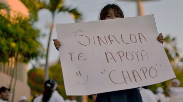 """Algunos residentes de Sinaloa han manifestado su apoyo a Joaquín """"El Chapo"""" Guzmán."""