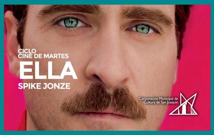 Película «Ella» del ciclo de Spike Jonze en Teatro Municipal San Joaquín, 25 de octubre. Entrada liberada