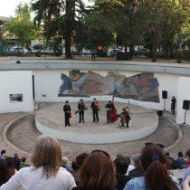 Reinauguraron mural de Gregorio de la Fuente en Ñuñoa