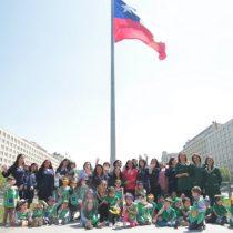 Niños de la Fundación Integra reciben honores del Ejército e izan Bandera del Bicentenario