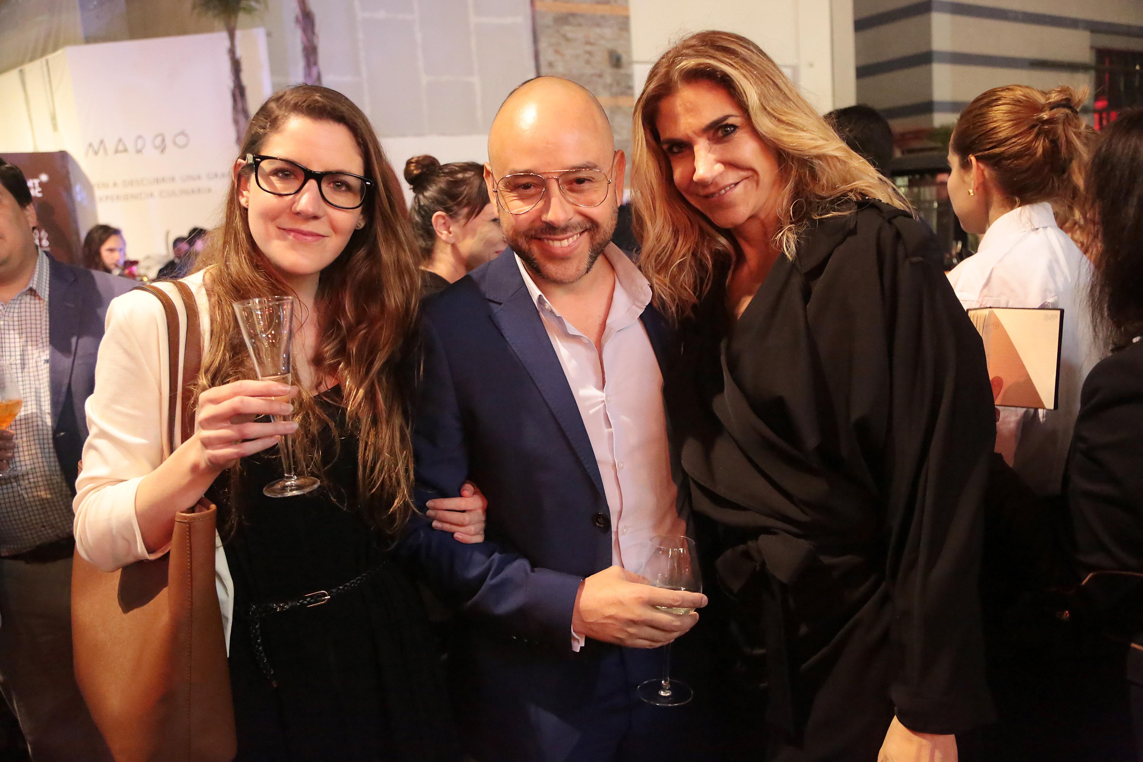 Macarena Toro, Max Gallegos y Vesna Bocic.