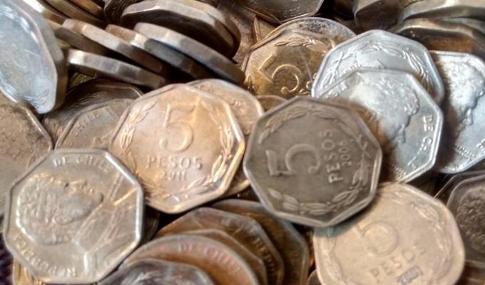 Definitivo: Banco Central dejará de emitir monedas de $1 y $5 a partir de octubre de 2017