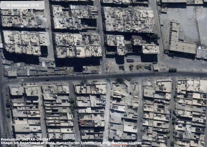 Imágenes de ONU indican que convoy humanitario a Alepo sufrió bombardeo aéreo
