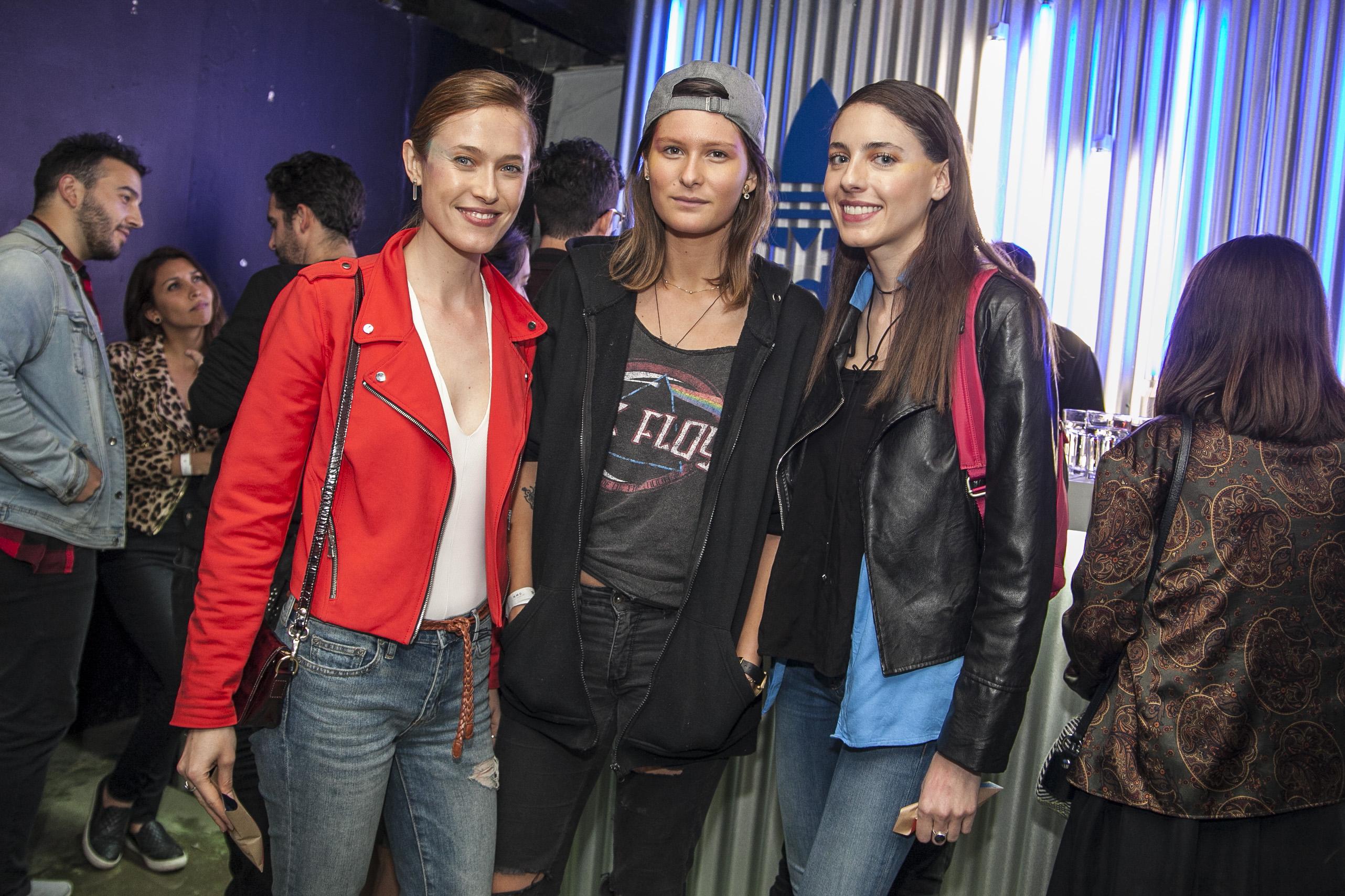 Soledad Andrade, Augusta Montt y Katerina Araya.