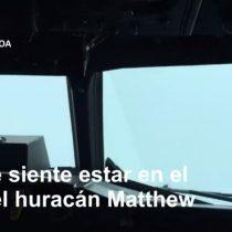 [VIDEO VIDA] El avión que atravesó y salió ileso del ojo del poderoso huracán Matthew