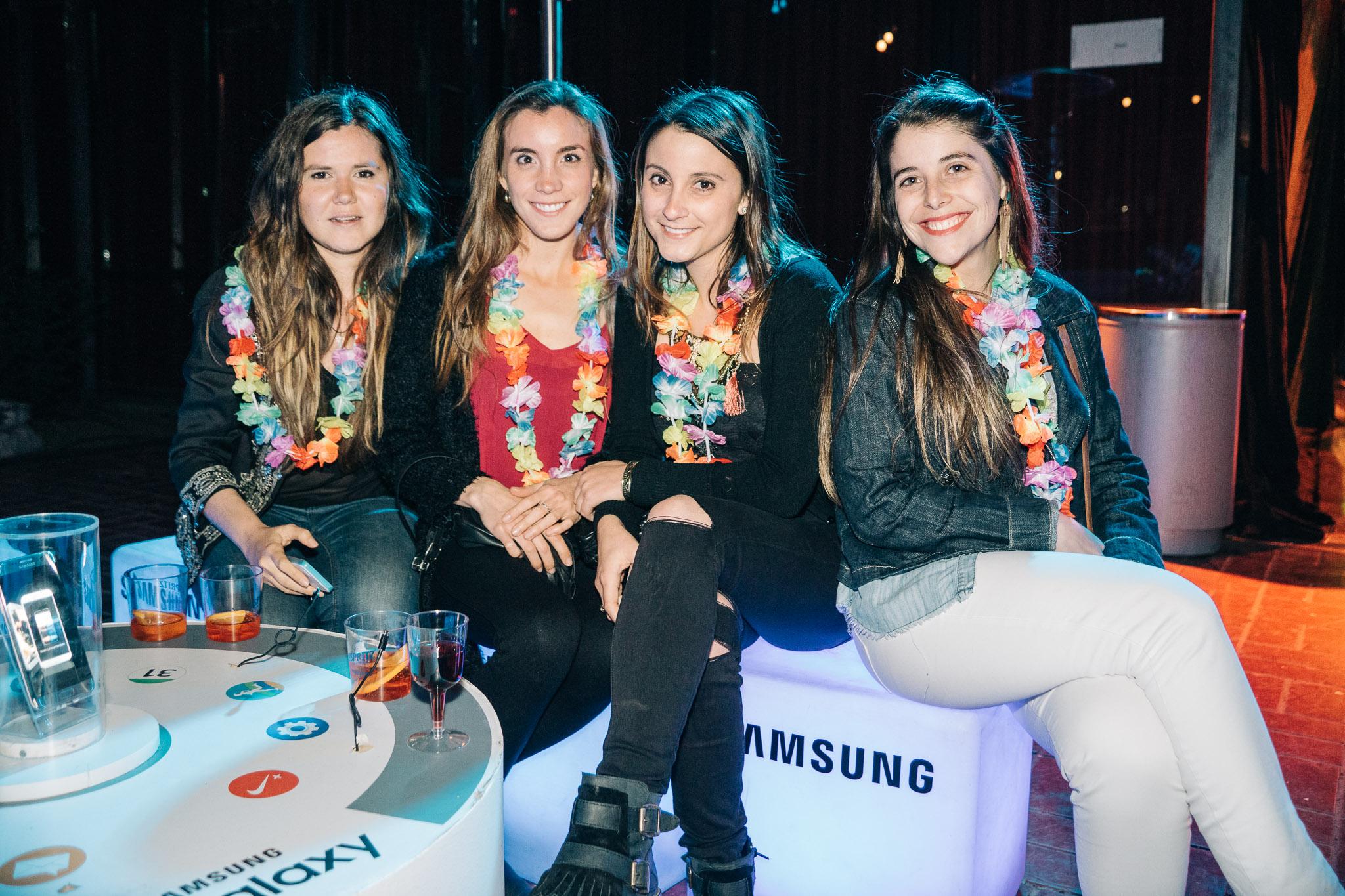 Camila Jaureguiberry, Teresa Quiroga, Francisca Toro y Catalina Bozzo.