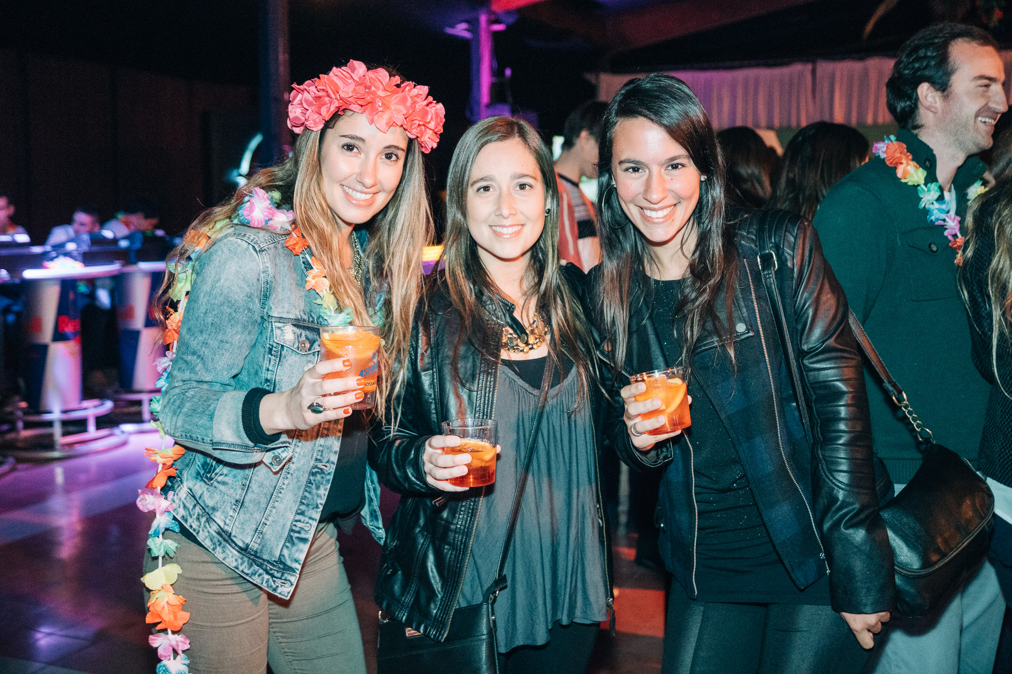 Catalina López, Magdalena Arias y Stefania Perciavalle.