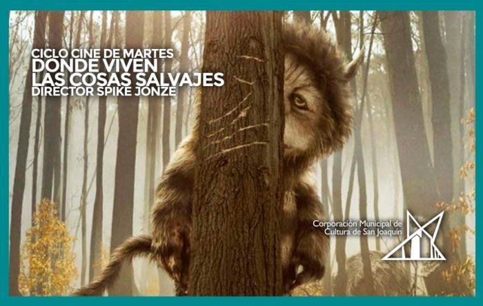 Película «Donde viven los monstruos» del ciclo de Spike Jonze en Teatro Municipal San Joaquín, 18 de octubre. Entrada liberada