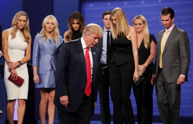 Trump contó con su familia en Las Vegas.