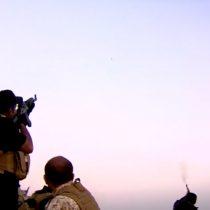 [VIDEO] El sorprendente momento en el que los peshmerga se encuentran con drones de Estado Islámico de camino a Mosul