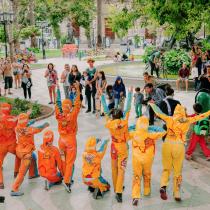 """Con la intervención escénica """"Grafittis en movimiento"""", el Centro Cultural escenalborde inicia gira a Región de Coquimbo"""