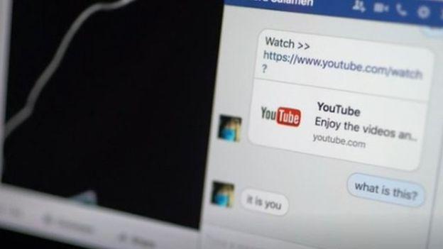 Samir recibió un mensaje del estafador con el enlace al video.